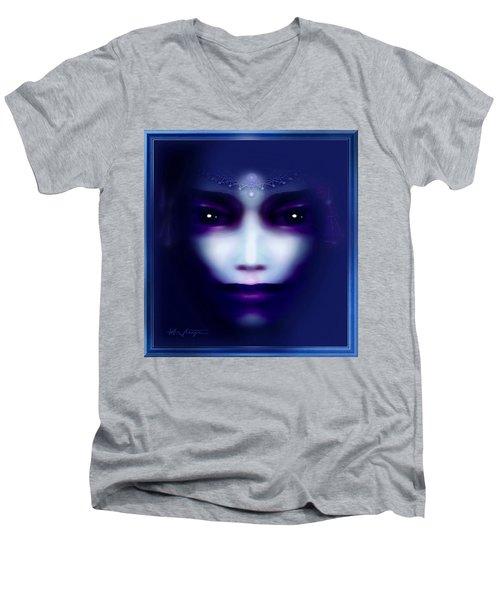 Angel  Blue Men's V-Neck T-Shirt by Hartmut Jager