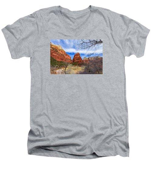 Angels Landing Men's V-Neck T-Shirt