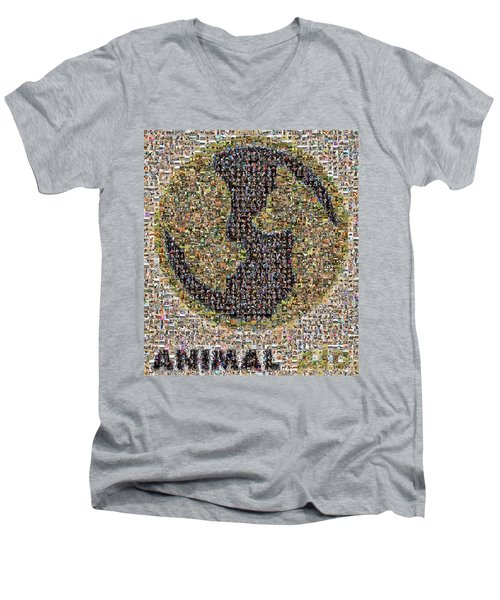 Animal Aid 2017  Men's V-Neck T-Shirt