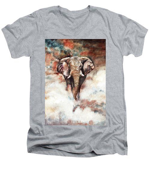 Approaching Menace Men's V-Neck T-Shirt