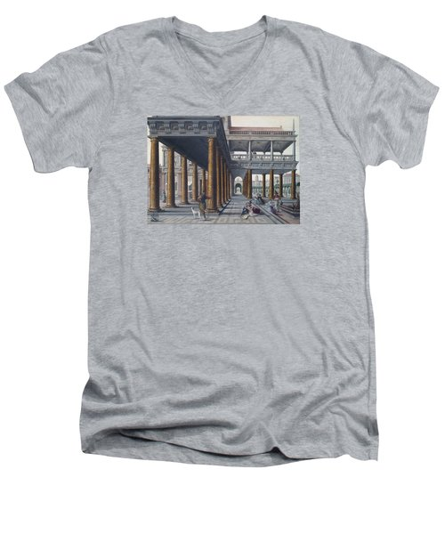 Architectural Caprice With Figures Men's V-Neck T-Shirt
