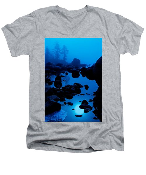 Arise From The Fog Men's V-Neck T-Shirt by Sean Sarsfield