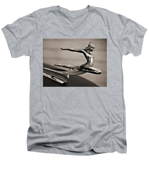Art Deco Hood Ornament Men's V-Neck T-Shirt