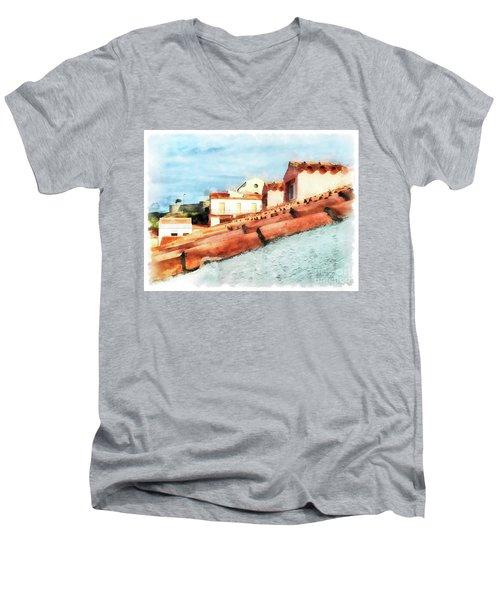 Arzachena Roof And Church Men's V-Neck T-Shirt