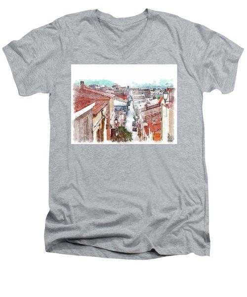 Arzachena View Of The Corso Garibaldi Men's V-Neck T-Shirt