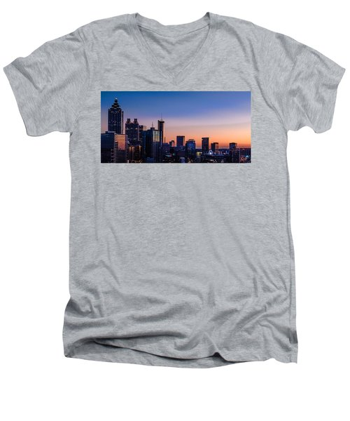 Atlanta Sunset Men's V-Neck T-Shirt