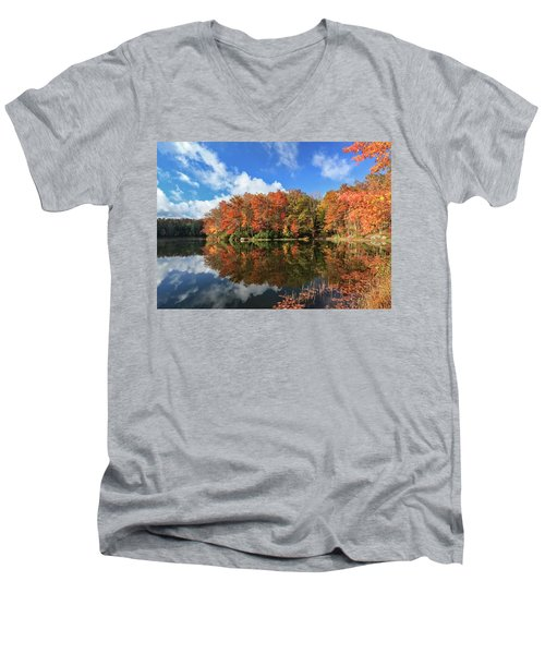 Autumn At Boley Lake Men's V-Neck T-Shirt