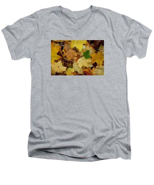 Autumn Leaves  Men's V-Neck T-Shirt by Gary Bridger