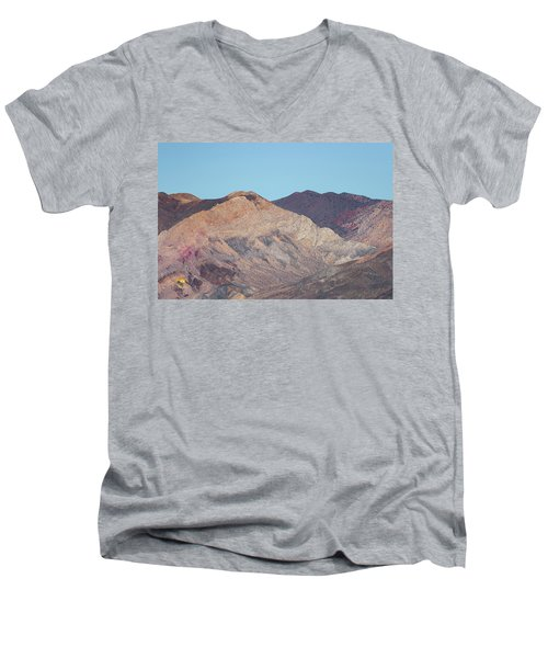 Men's V-Neck T-Shirt featuring the photograph Avawatz Mountain by Jim Thompson