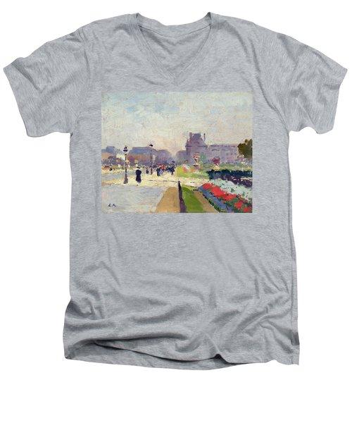 Avenue Paul Deroulede Men's V-Neck T-Shirt by Jules Ernest Renoux