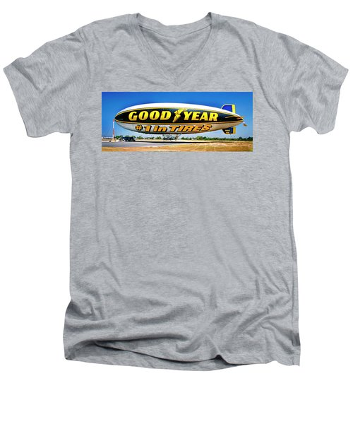 My Goodyear Blimp Ride Men's V-Neck T-Shirt