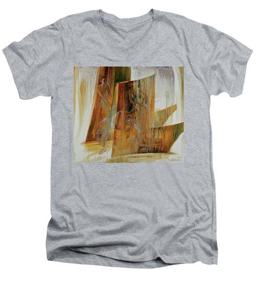 Ba-ll-et Men's V-Neck T-Shirt