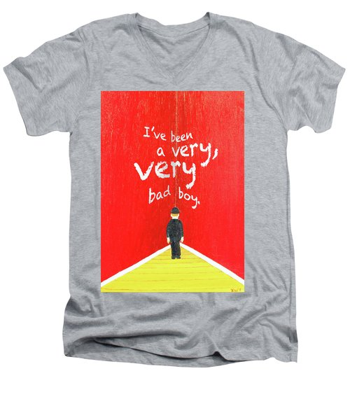 Bad Boy Greeting Card Men's V-Neck T-Shirt