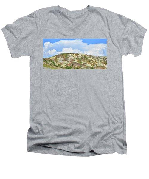 Badlands In Wyoming Men's V-Neck T-Shirt