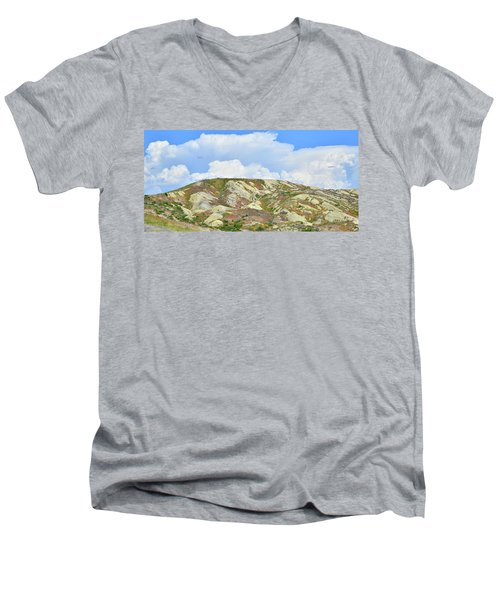 Badlands In Wyoming Men's V-Neck T-Shirt