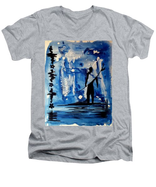 Badsurfer  Men's V-Neck T-Shirt