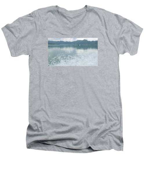 Bali River  Men's V-Neck T-Shirt by Nora Boghossian