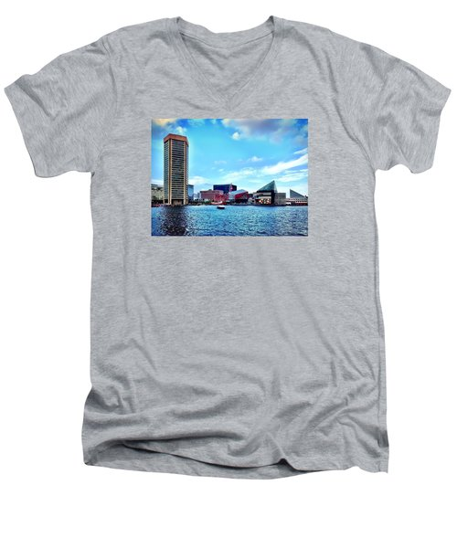 Baltimore's Inner Harbor Men's V-Neck T-Shirt