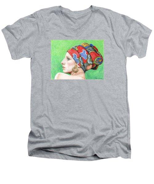 Barbra Streisand Men's V-Neck T-Shirt