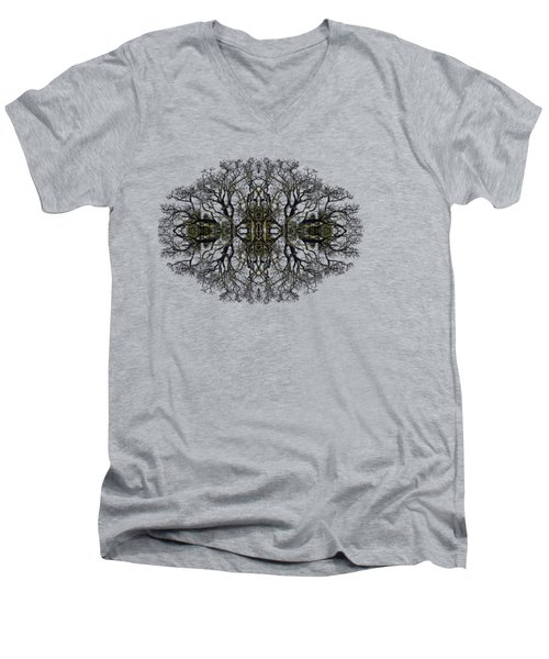 Men's V-Neck T-Shirt featuring the photograph Bare Tree by Debra and Dave Vanderlaan