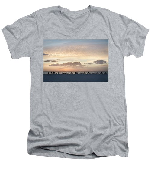 Beach At Sunset Men's V-Neck T-Shirt