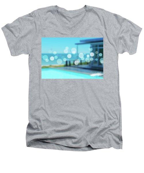 Men's V-Neck T-Shirt featuring the photograph Beach Resort Concept by Atiketta Sangasaeng