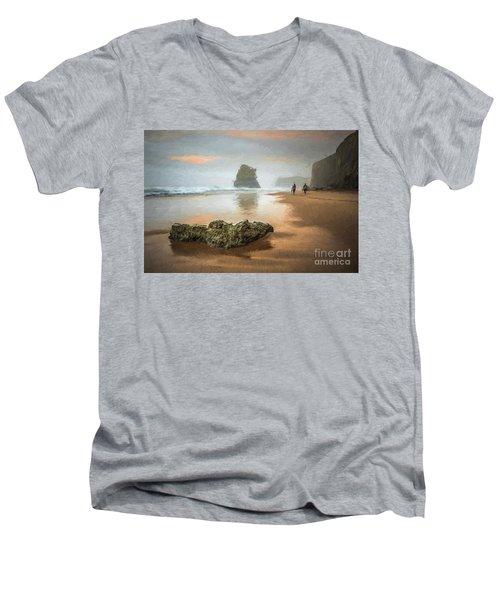Beach Stroll Men's V-Neck T-Shirt