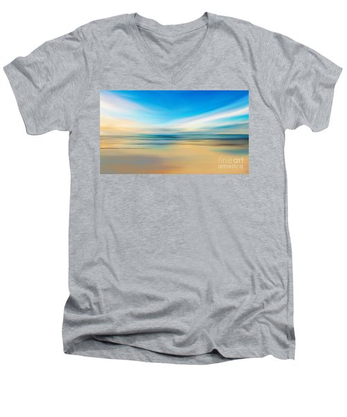 Beach Sunrise Men's V-Neck T-Shirt by Anthony Fishburne
