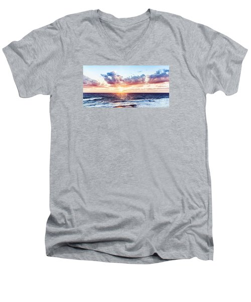 Beautiful Sea Landscape Men's V-Neck T-Shirt
