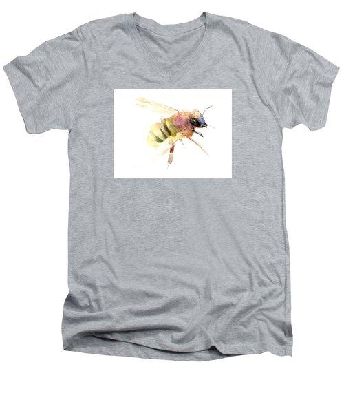Bee Men's V-Neck T-Shirt by Suren Nersisyan