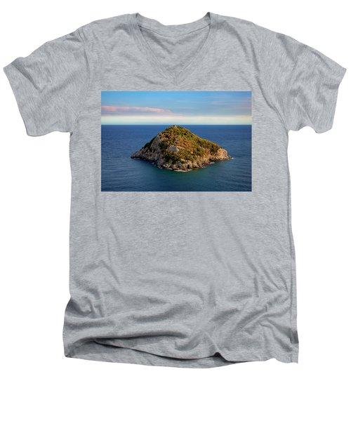 Bergeggi Island Men's V-Neck T-Shirt