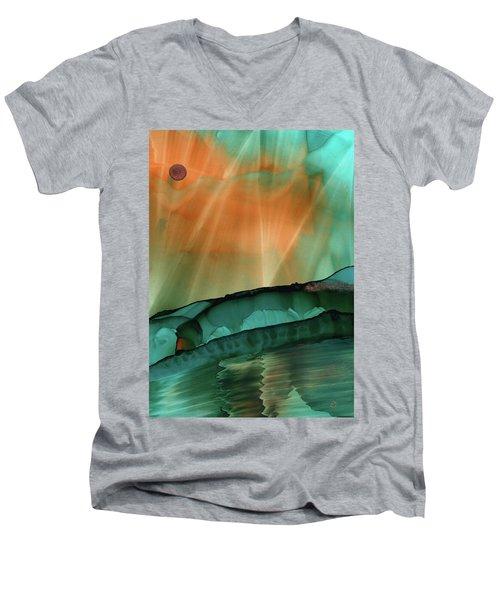 Beyond The City Lights Men's V-Neck T-Shirt