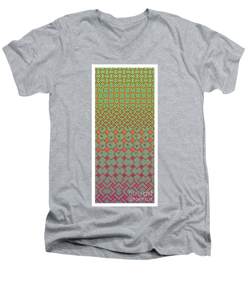 Bibi Khanum Ds Patterns No.8 Men's V-Neck T-Shirt