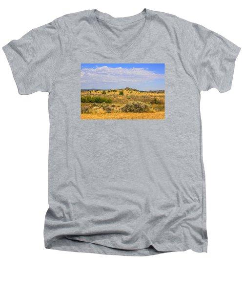 Big Sky Country Men's V-Neck T-Shirt by Chris Smith