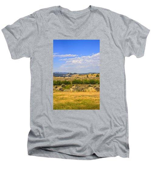 Big Sky Montana Men's V-Neck T-Shirt by Chris Smith