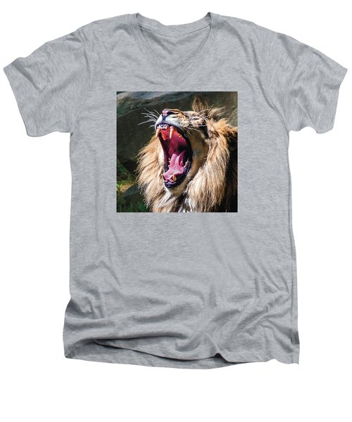 Big Yawn Men's V-Neck T-Shirt