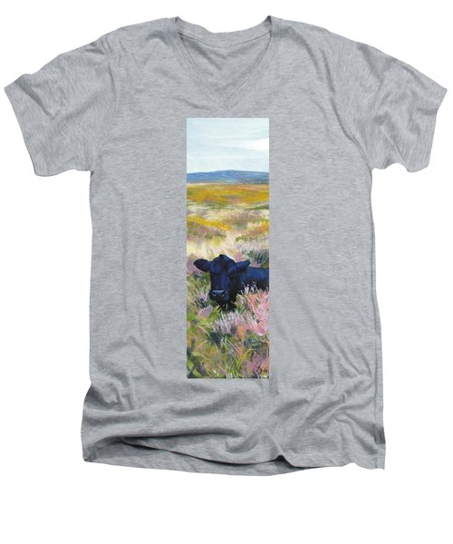 Black Cow Dartmoor Men's V-Neck T-Shirt
