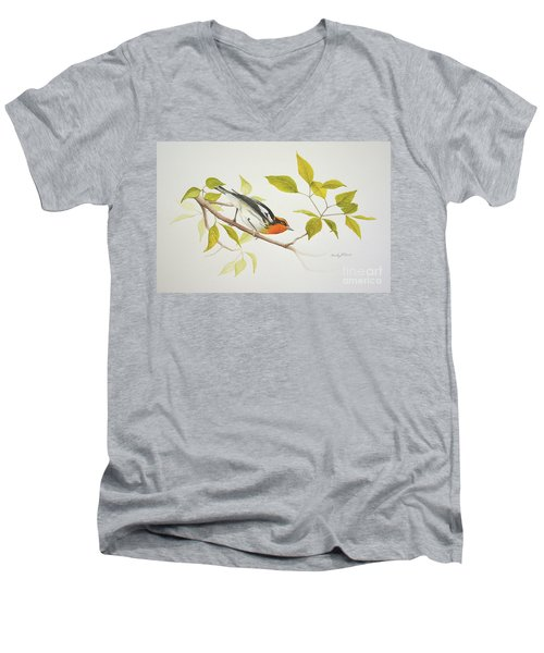 Blackburnian Warbler Men's V-Neck T-Shirt