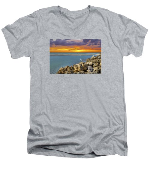 Blind Pass Sunset Men's V-Neck T-Shirt