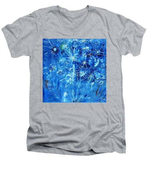 Blue Design Men's V-Neck T-Shirt