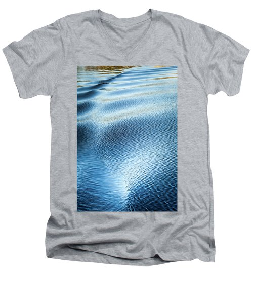 Blue On Blue Men's V-Neck T-Shirt by Karen Wiles