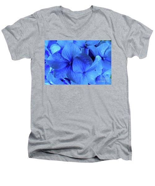 Men's V-Neck T-Shirt featuring the photograph Blue by Nancy Patterson