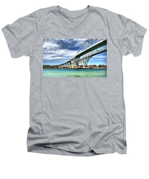 Blue Water Bridge Men's V-Neck T-Shirt