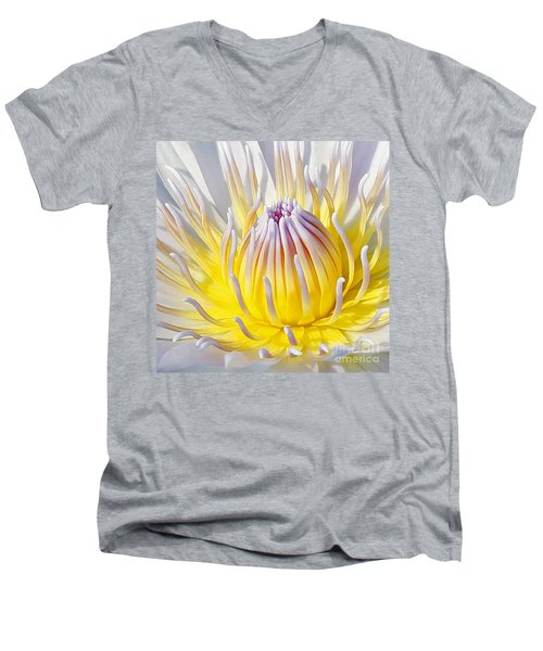 Blue Water Lily Men's V-Neck T-Shirt