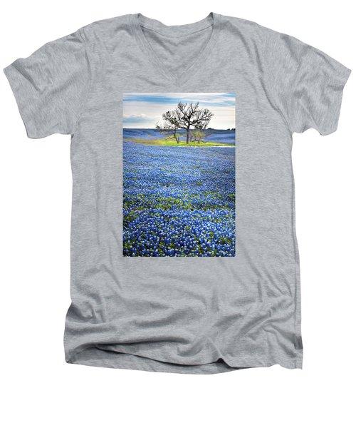Bluebonnet Field Men's V-Neck T-Shirt