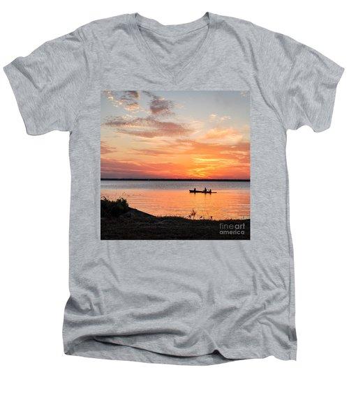 Boating Sunset Men's V-Neck T-Shirt