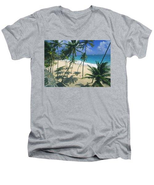 Bottom Bay, Barbados Men's V-Neck T-Shirt