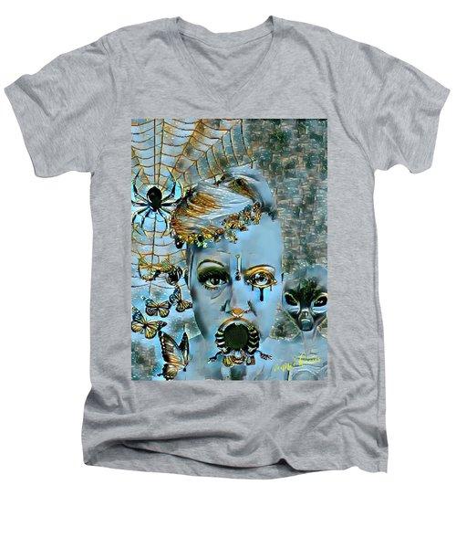 Break Free Men's V-Neck T-Shirt by Vennie Kocsis