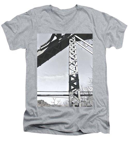 Bridge At Guerneville Men's V-Neck T-Shirt