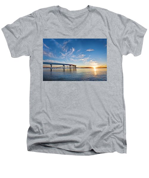 Bridge Sunrise Men's V-Neck T-Shirt